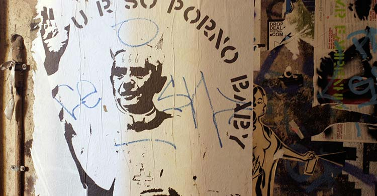 U R SO PORNO BABY, graffiti of Benedetto XVI, Berlin, 2011